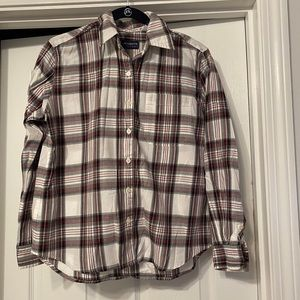Cozy Black and Red Plaid Flannel Small EUC